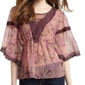 Free people amethysts daydream embroidered top